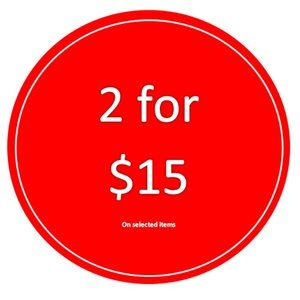 Buy 2 For $15